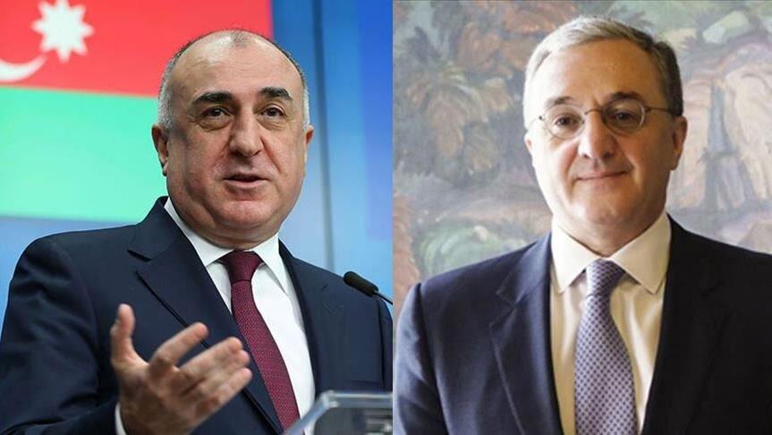 المار محمدیاراف و زهراب مناتساکانیان وزرای امور خارجه جمهوری آذربایجان و ارمنستان