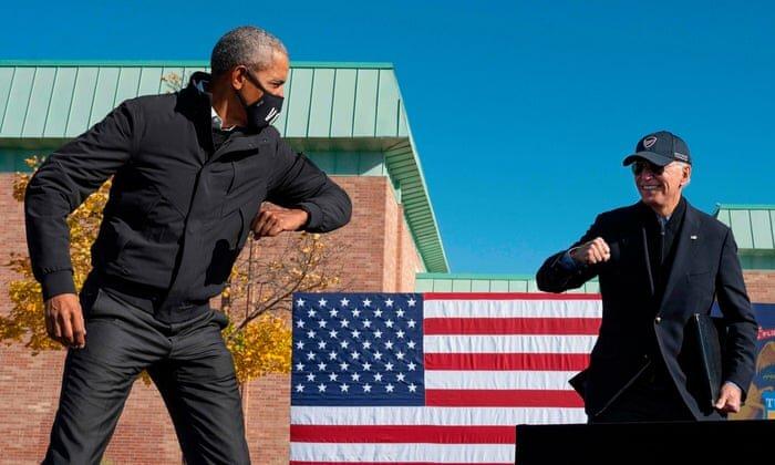 اوباما و بایدن در میشیگان