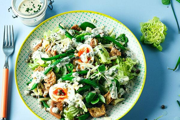 سالاد سزار - آشپزی - تغذیه - غذا - پیش غذا - Caesar salad