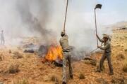 مهار آتش توسکستان پس از سه روز