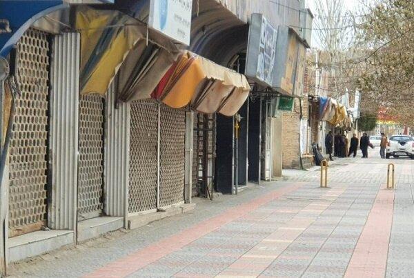 تعطیلی بازار مهاباد