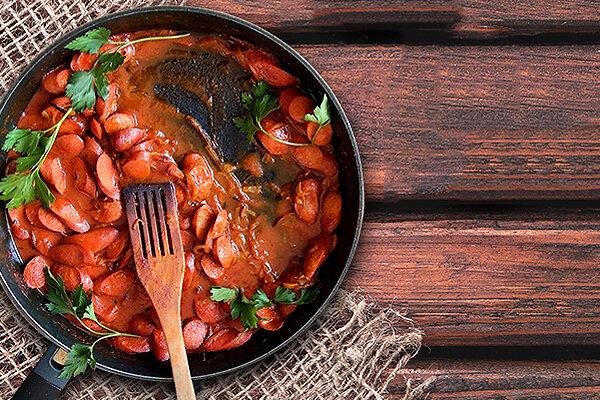سوسیس بندری - آشپزي - غذا - تغذيه