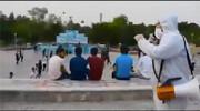 ویدئو | التماسهای تکاندهنده کادر درمان کرونا به مردم در یکی از پارکهای اصفهان | واکنشهای مردم را ببینید