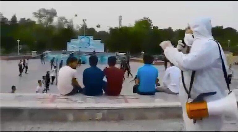 التماس های کادر درمان کرونا به مردم در پارک - اصفهان