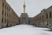 تصاویر   بارش برف پاییزی در مشهد