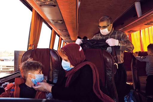 كرونا - سفر - اتوبوس