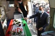تشییع پیکر دومین شهید مدافع سلامت در تربتحیدریه