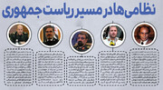اینفوگرافیک | این ۵ نفر ؛ نظامیها در مسیر ریاست جمهوری ایران