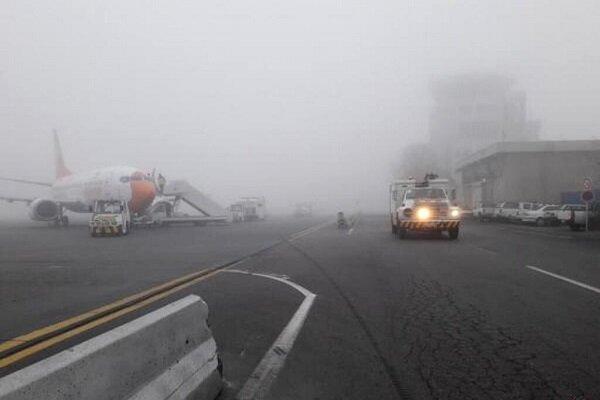 مه شدید و لغو پروازها