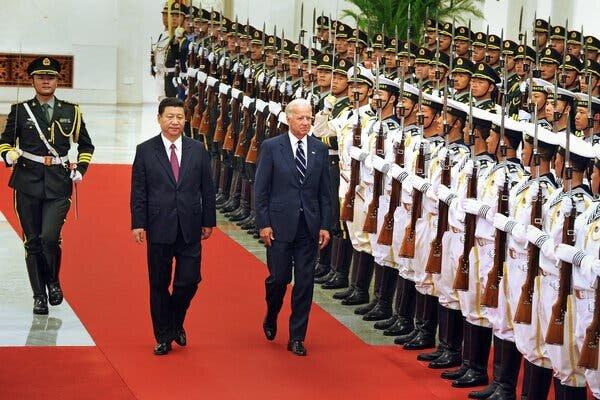 رئیس جمهوری چین و جو بایدن