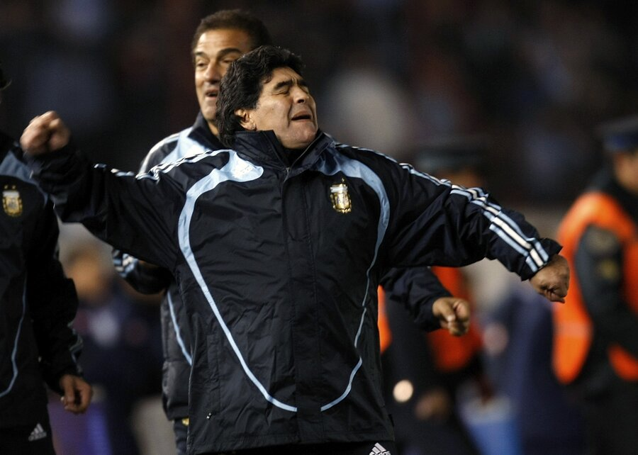 تیم ملی آرژانتین مارادونا