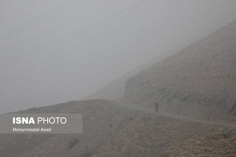 تهران در مه - آسمان تهران