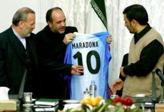 احمدي نژاد - مارادونا