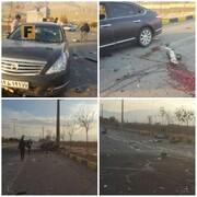 اولین تصویر از خودرو و محل ترور محسن فخریزاده دانشمند هستهای کشورمان