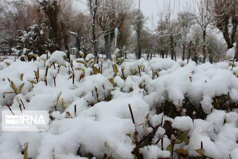بارش سنگین برف در خلخال