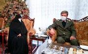 تصاویر | حضور وزیر دفاع در منزل شهید فخری زاده