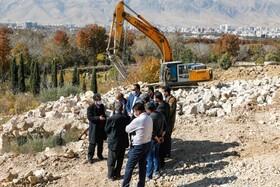 رانش کوه منصورآباد شیراز مهار شد