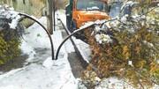 ۵۰۰ درخت در بارش سنگین برف سقز شکست