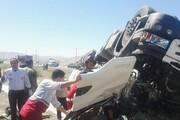 واژگونی تریلر جاده ایلام-مهران را مسدود کرد