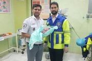 عجله نوزاد گمیشانی برای تولد خاص در آمبولانس