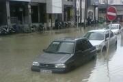آبگرفتگی در معابر و خیابانهای بوشهر