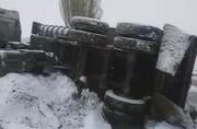 دو کشته در واژگونی تریلی جاده مهاباد به بوکان