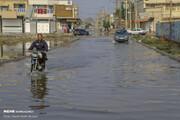ویدئو | تصاویر هوایی از حجم آب در یکی از شهرهای خوزستان پس از بارندگیهای دو روز گذشته