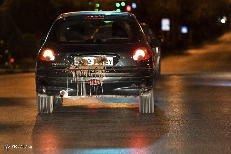 تصاویر | مخدوشکردن پلاک خودرو در ساعات تردد ممنوع