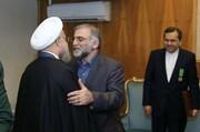 برای نخستین بار منتشر شد؛ تصاویر تجلیل روحانی از فخریزاده | نشان خدمت برجام بر سینه فخر ایران