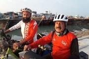 دوچرخهسواران سیرجانی به بندرگناوه رسیدند