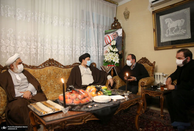 سیدحسن خمینی در منزل شهید فخری زاده