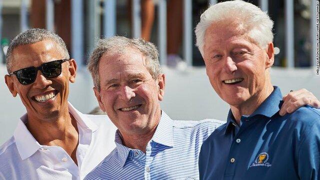 اوباما - بوش - كلينتون