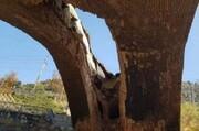 عکس | قدیمیترین سازه کرج فرو ریخت