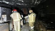 تصاویر | آتشسوزی آپارتمان ۵ طبقه در خیابان شریعتی تهران