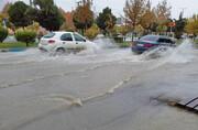 شیراز باز هم با باران شدید غافلگیر شد
