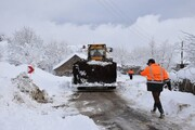برفروبی ۱۱ هزار و ۷۲۰ کیلومتر از راههای آذربایجان شرقی | ۱۲۵ راه روستایی مسدود است