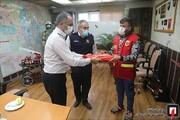 دستفروش فداکار حادثه سینا اطهر آتشنشان داوطلب شد