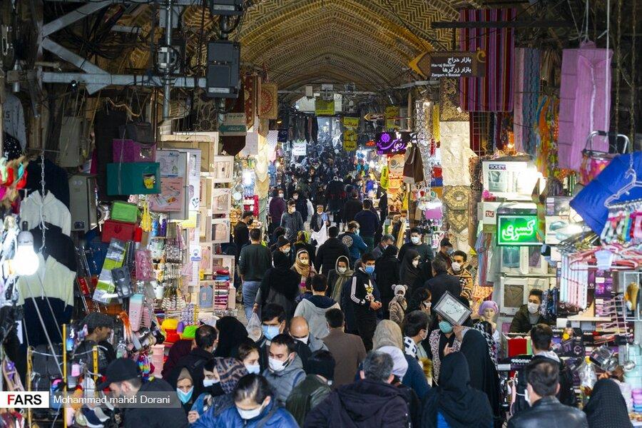 بازار تهران پس از محدودیت های کرونا - شلوغی - تردد