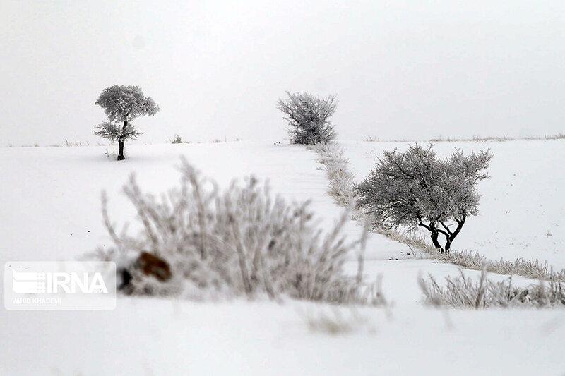 بارش برف پاییزی در ارتفاعات خراسان شمالی
