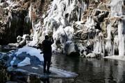 عکس روز| آبشار یخزده