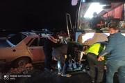 یک کشته و ۲ مصدوم در برخورد اتوبوس و پیکان در هریس