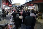 تصاویر | شلوغی بازار سنندج در آستانه شب یلدا