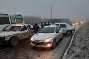 برخورد ۲۰ خودرو در یک تصادف زنجیرهای در اراک