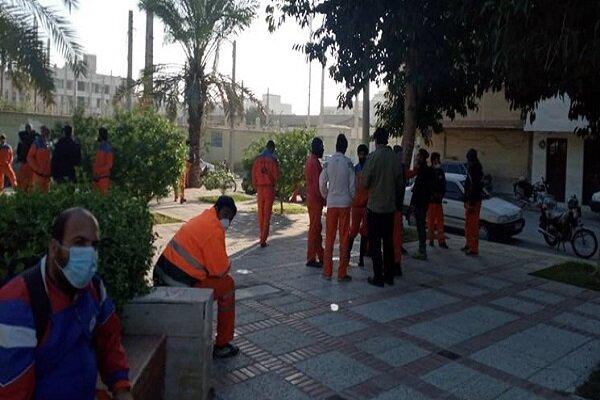 تجمع کارگران شهرداری بوشهر