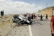 ۲ کشته و ۲ زخمی در برخورد ۳ خودرو در باشت