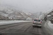 جادههای زنجان در مه و کولاک موضعی