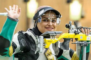 خدمتی قهرمان رقابت آزاد تفنگ بادی ایران شد