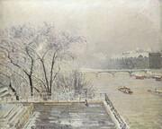 رد برف زمستان روی شاهکارهای نقاشی