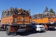 کشف ۲۲۰ تن چوب قاچاق در زنجان