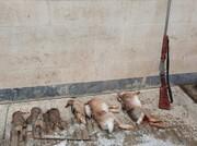 شکارچیان گونههای جانوری در خدابنده به دام افتادند